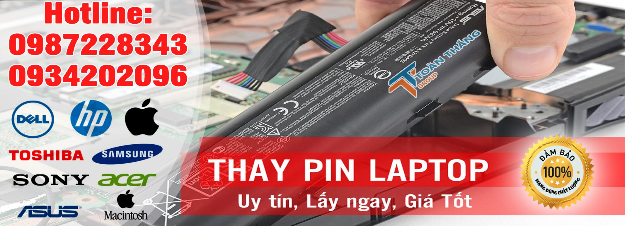Công Ty Dịch Vụ Thay Pin Laptop Tận Nơi Quận 2 Uy Tín Nhanh